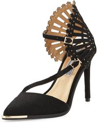 Ivy Kirzhner Consuelo Pointtoe Calf Hair Pump Black - Lyst