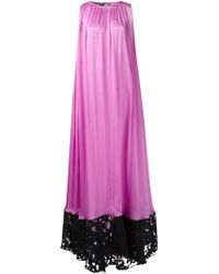 Emanuel Ungaro Devoré Hem Cape Evening Gown - Lyst
