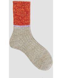 Mauna Kea - Half Tone Sock Grey/red - Lyst