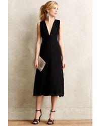Anthropologie Silk Cut-Out Dress - Lyst