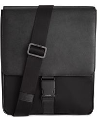Calvin Klein Nylon And Saffiano Leather City Bag - Lyst