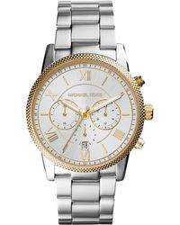 Michael Kors Men'S Chronograph Hawthorne Stainless Steel Bracelet Watch 42Mm Mk8396 - Lyst