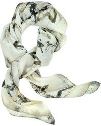 Jimmy Choo Multicolor Star Print Silk Square Scarf - Lyst