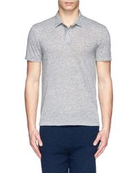 Theory Flax Blend Jersey Polo Shirt - Lyst