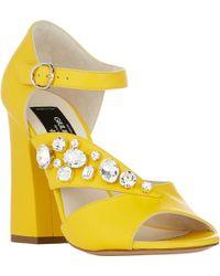 Giulietta Crystal-Embellished Minetta Sandals - Lyst