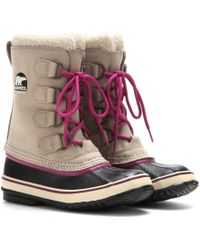Sorel Pac 2 Leather and Rubber Boots - Lyst