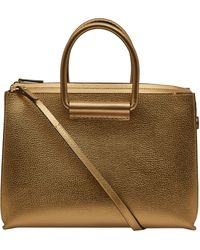 The Row Gold Classic 5 Metal Leather Bag - Lyst