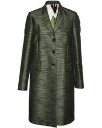 Paul Smith Black Label - Green Metallic Thread Epsom Coat - Lyst