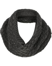 Topshop Luxe Slubby Snood  Charcoal - Lyst