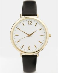 Asos Premium Leather Watch - Lyst