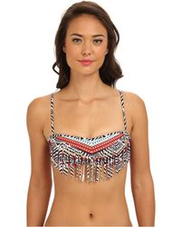 Roxy Panel Fringe Bandeau Separate Top - Lyst