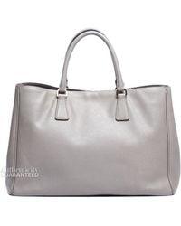 Prada Pre-owned Argilla Grey Saffiano Lux Tote Bag - Lyst