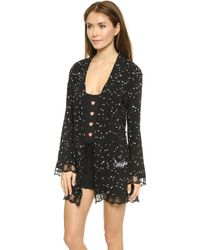 Wildfox Wild Hearts Lace Dressing Robe - Wild Hearts - Lyst