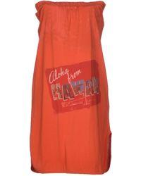 Pinko Orange Short Dress - Lyst