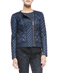Rebecca Taylor Quilted Puffer Moto Jacket - Lyst