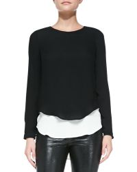 Twelfth Street by Cynthia Vincent Georgette Doublelayer Blouse - Lyst