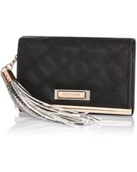River Island | Black Quilted Purse Purse | Lyst
