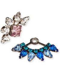 Dannijo Livi Crystal Jacket Earrings - Lyst