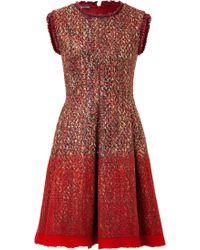 Alberta Ferretti Boucle Dress - Lyst