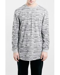 Topman Men'S Long Sleeve Stripe T-Shirt - Lyst