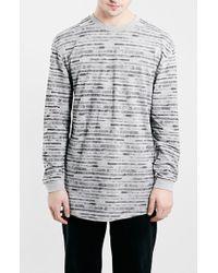 Topman Long Sleeve Stripe T-Shirt - Lyst