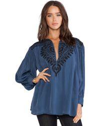 Antik Batik Blue Isis Blouse - Lyst