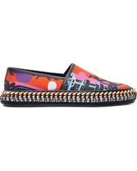 Versace Red And Gold Cuba Print Espadrilles - Lyst