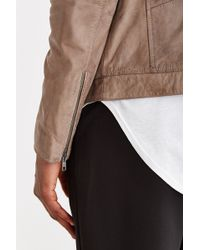 Your Neighbors - Distressed Leather Moto Jacket - Lyst