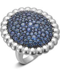 Slane - Nuage Pavé Blue Sapphire Ring - Lyst