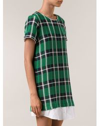 Sea Plaid Shirtdress - Lyst