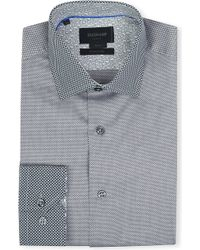 Duchamp Honeycomb-contrast Slim-fit Single-cuff Shirt - Lyst