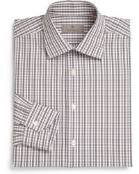 Canali Regular-Fit Checked Dress Shirt - Lyst