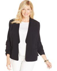 Jones New York Collection Plus Size Open-Front Blazer black - Lyst
