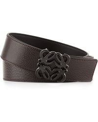 Loewe Reversible Anagrambuckle Belt Black To Brown - Lyst