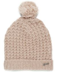 Maison Scotch - Women's Knitted Fluffy Waffle Stitch Hat - Lyst