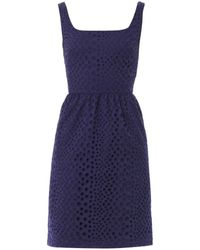 Issa Broderie-Anglaise Dress blue - Lyst