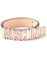 Moschino Logo Plaque Belt - Lyst