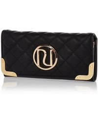 River Island Black Quilted Fold Over Purse - Lyst