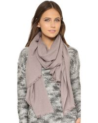 Love Quotes - Eyelash Rayon Scarf - Lyst