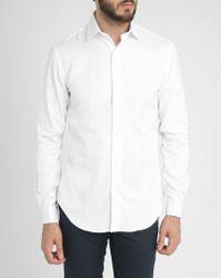 Celio Club White Tcapaola French Cuffs Slim-Fit Shirt - Lyst