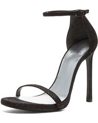Stuart Weitzman Nudist Textured Nappa Leather Heels - Lyst
