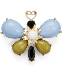R.j. Graziano Cabochon Butterfly Pin - Lyst