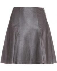 Alice + Olivia Pharl Leather Skirt - Lyst