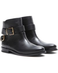 Burberry Brit Kalina Leather Ankle Boots - Lyst