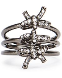 Fallon - Forget Me Knot Triple Ring - Lyst