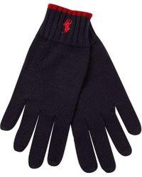 Ralph Lauren Knitted Wool Gloves - Lyst