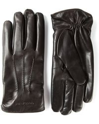 Giorgio Armani B Leather Gloves - Lyst