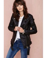 Nasty Gal Muubaa Bf Leather Jacket - Lyst