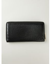 Alexander McQueen Zip Around Textured Wallet - Lyst