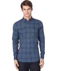 Calvin Klein Endonend Plaid Slimfit Shirt - Lyst